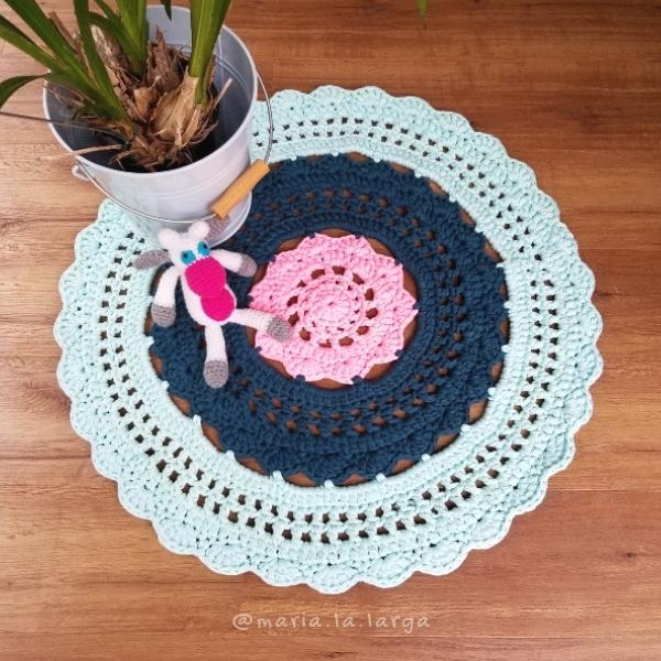 Crochet XL Round Rug Pattern