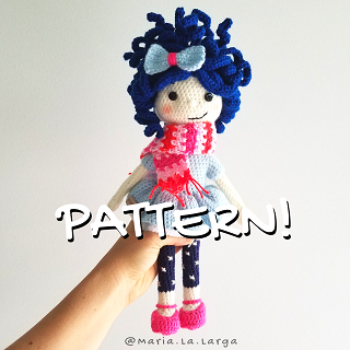How to Attach Hair to Amigurumi Doll | AllFreeCrochet.com | 320x320