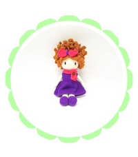 crochet handmade dolls amigurimi curly hair redheaded doll toy