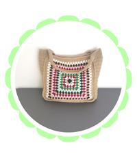Granny Square Handbag purse clutch crochet